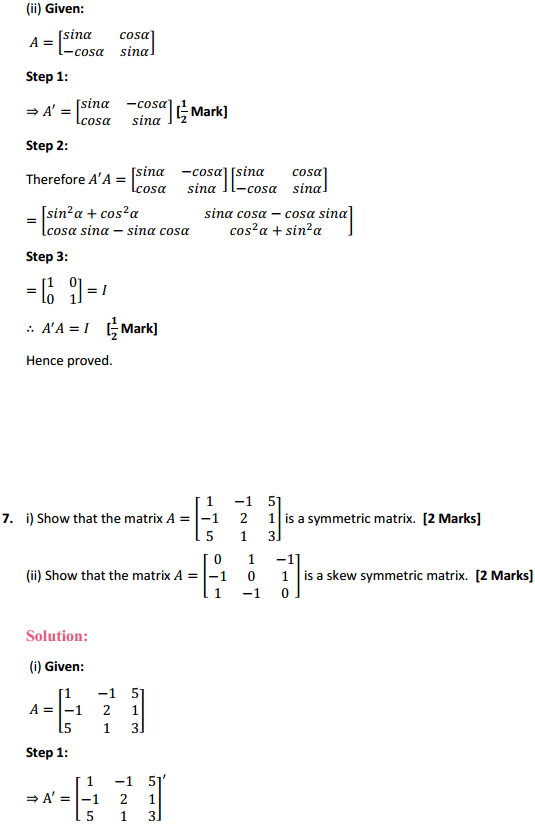 NCERT Solutions for Class 12 Maths Chapter 3 Matrices Ex 3.3 10