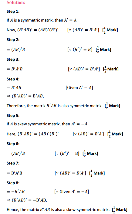 NCERT Solutions for Class 12 Maths Chapter 3 Matrices Miscellaneous Exercise 7