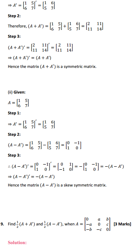 NCERT Solutions for Class 12 Maths Chapter 3 Matrices Ex 3.3 12