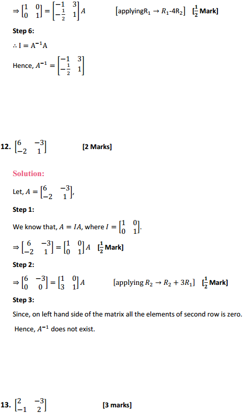 NCERT Solutions for Class 12 Maths Chapter 3 Matrices Ex 3.4 10