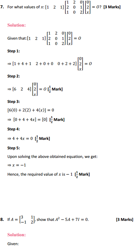 NCERT Solutions for Class 12 Maths Chapter 3 Matrices Miscellaneous Exercise 9