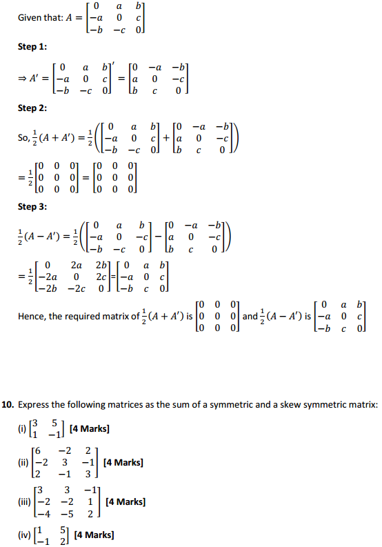 NCERT Solutions for Class 12 Maths Chapter 3 Matrices Ex 3.3 13