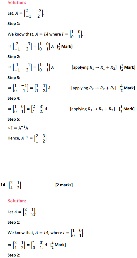 NCERT Solutions for Class 12 Maths Chapter 3 Matrices Ex 3.4 11