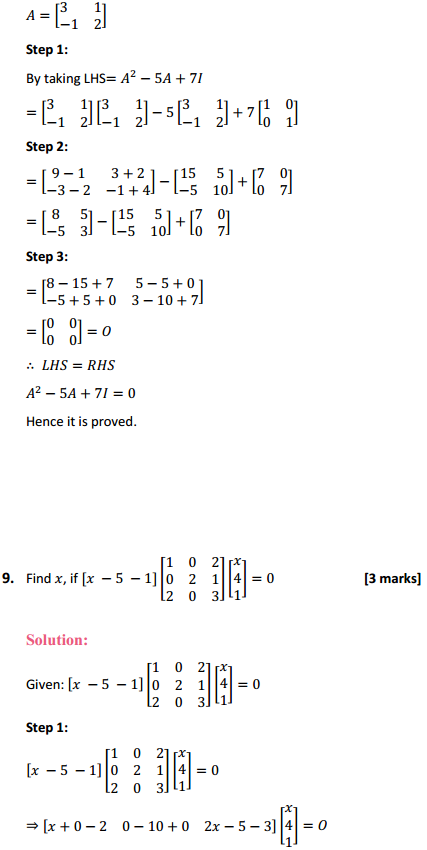 NCERT Solutions for Class 12 Maths Chapter 3 Matrices Miscellaneous Exercise 10