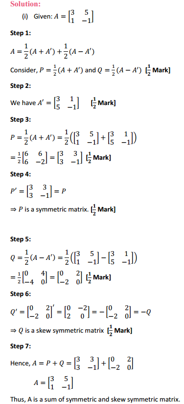 NCERT Solutions for Class 12 Maths Chapter 3 Matrices Ex 3.3 14