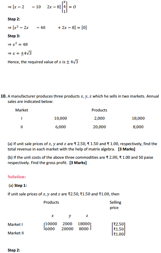NCERT Solutions for Class 12 Maths Chapter 3 Matrices Miscellaneous Exercise 11