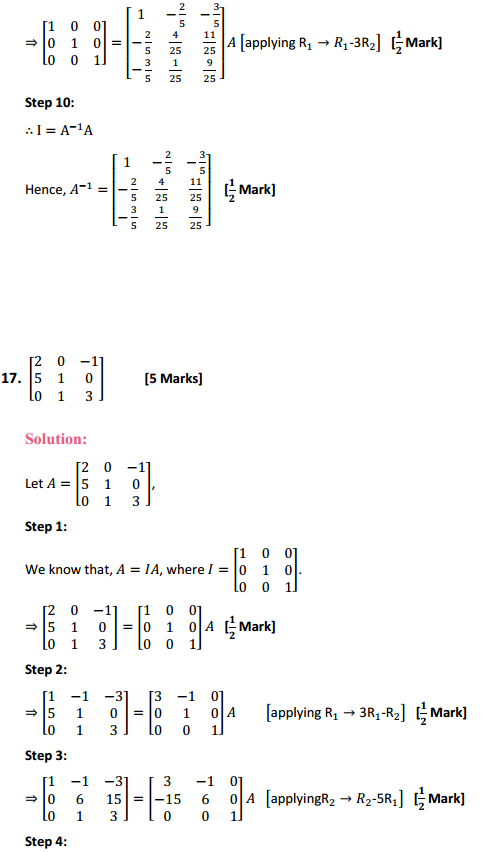 NCERT Solutions for Class 12 Maths Chapter 3 Matrices Ex 3.4 15