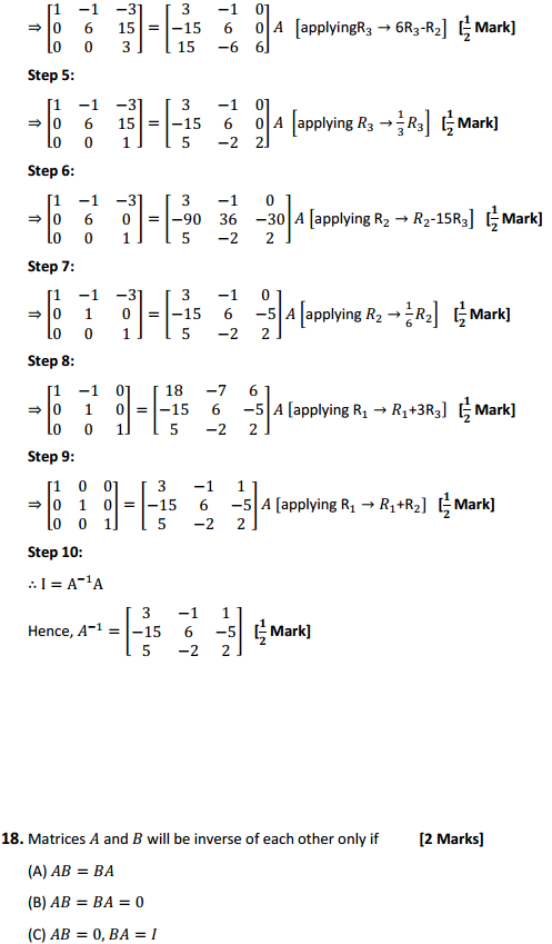 NCERT Solutions for Class 12 Maths Chapter 3 Matrices Ex 3.4 16