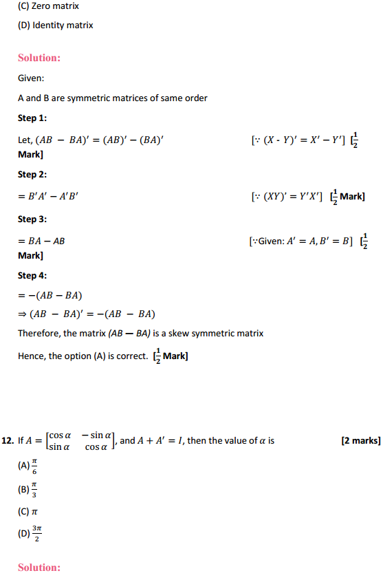 NCERT Solutions for Class 12 Maths Chapter 3 Matrices Ex 3.3 19