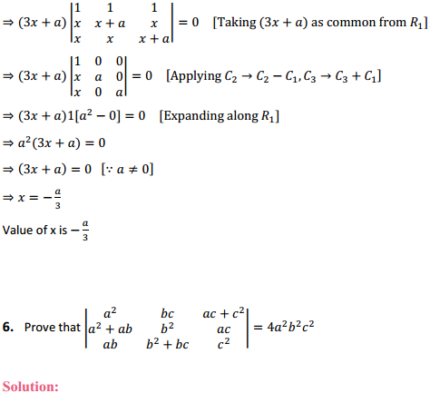 NCERT Solutions for Class 12 Maths Chapter 4 Determinants Miscellaneous Exercise 4
