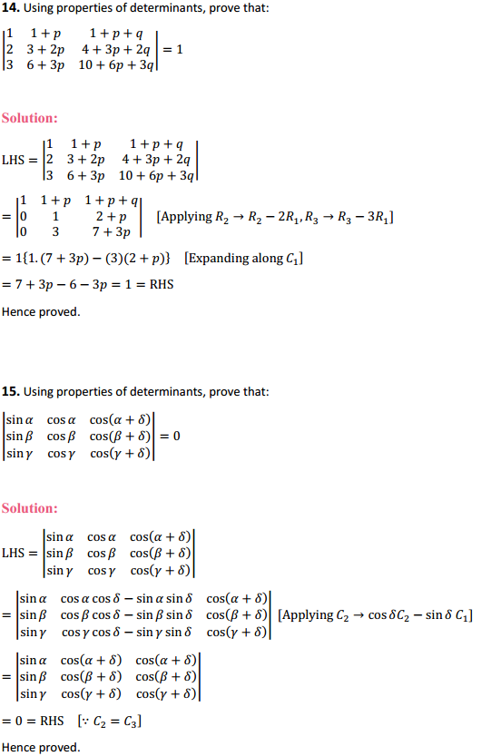 NCERT Solutions for Class 12 Maths Chapter 4 Determinants Miscellaneous Exercise 15