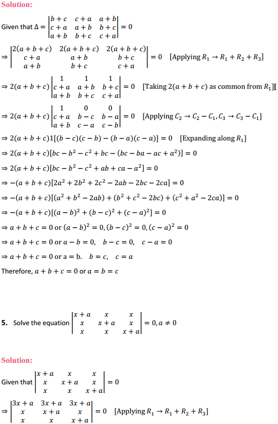 NCERT Solutions for Class 12 Maths Chapter 4 Determinants Miscellaneous Exercise 3