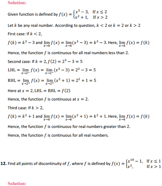NCERT Solutions for Class 12 Maths Chapter 5 Continuity and Differentiability Ex 5.1 11