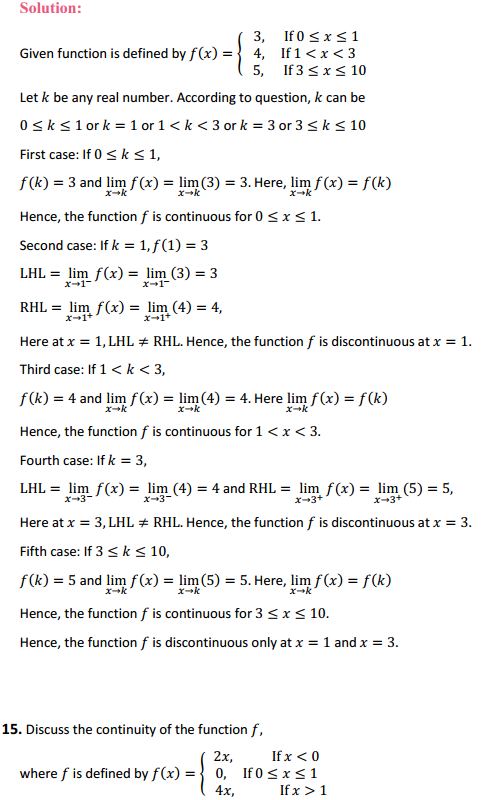 NCERT Solutions for Class 12 Maths Chapter 5 Continuity and Differentiability Ex 5.1 14