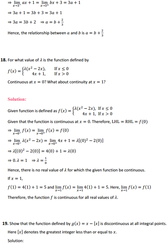 NCERT Solutions for Class 12 Maths Chapter 5 Continuity and Differentiability Ex 5.1 20