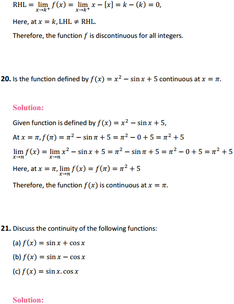 NCERT Solutions for Class 12 Maths Chapter 5 Continuity and Differentiability Ex 5.1 22