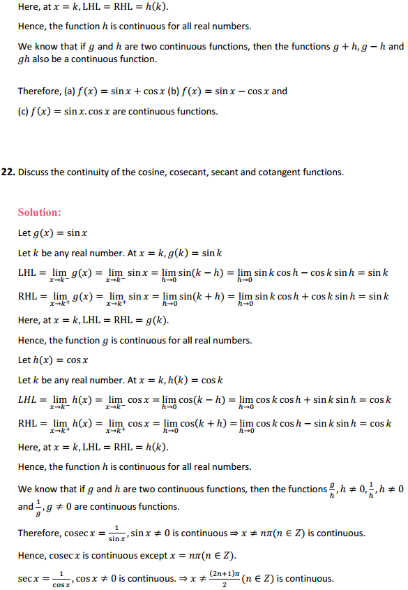 NCERT Solutions for Class 12 Maths Chapter 5 Continuity and Differentiability Ex 5.1 24