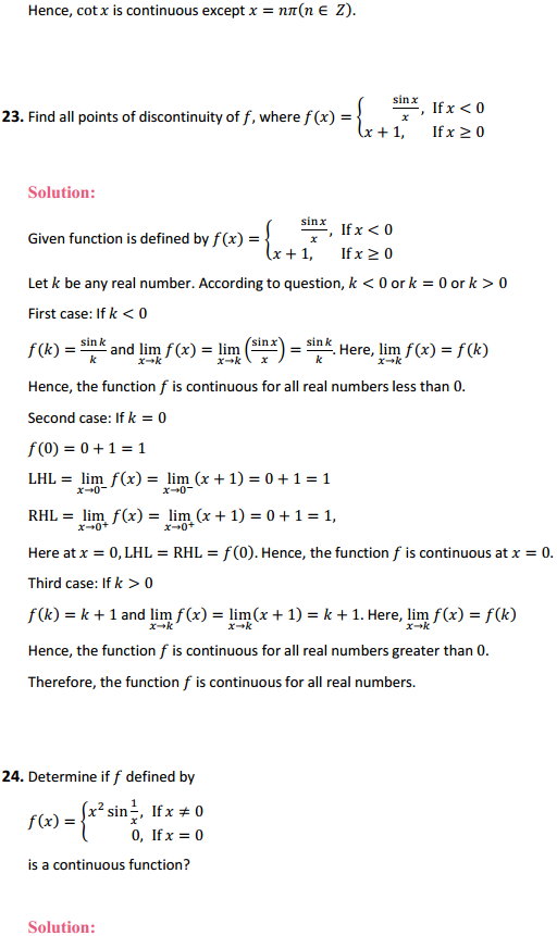 NCERT Solutions for Class 12 Maths Chapter 5 Continuity and Differentiability Ex 5.1 26