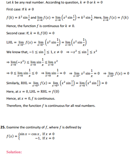 NCERT Solutions for Class 12 Maths Chapter 5 Continuity and Differentiability Ex 5.1 28