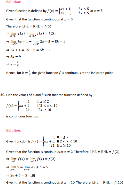 NCERT Solutions for Class 12 Maths Chapter 5 Continuity and Differentiability Ex 5.1 33