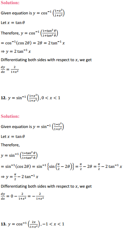 NCERT Solutions for Class 12 Maths Chapter 5 Continuity and Differentiability Ex 5.3 6