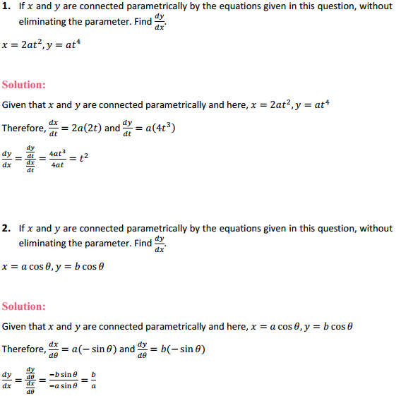 NCERT Solutions for Class 12 Maths Chapter 5 Continuity and Differentiability Ex 5.6 1