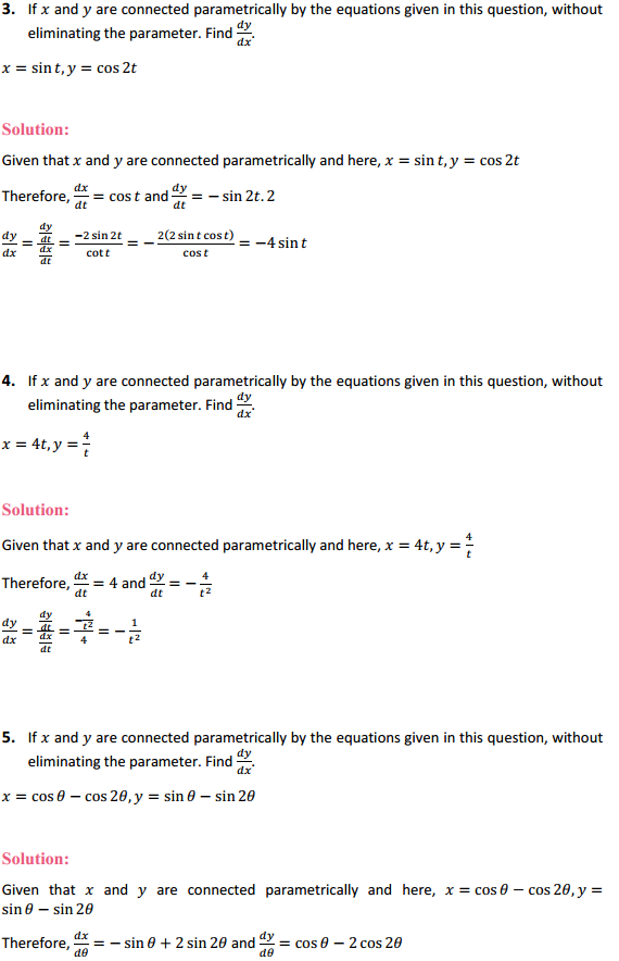 NCERT Solutions for Class 12 Maths Chapter 5 Continuity and Differentiability Ex 5.6 2