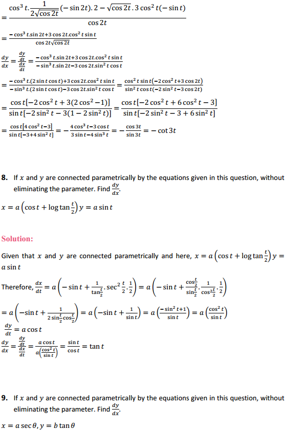 NCERT Solutions for Class 12 Maths Chapter 5 Continuity and Differentiability Ex 5.6 4