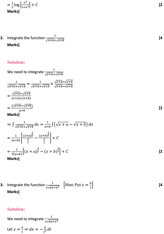 NCERT Solutions for Class 12 Maths Chapter 7 Integrals Miscellaneous Exercise 2