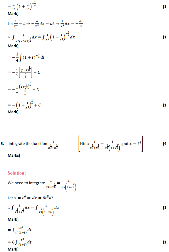 NCERT Solutions for Class 12 Maths Chapter 7 Integrals Miscellaneous Exercise 4