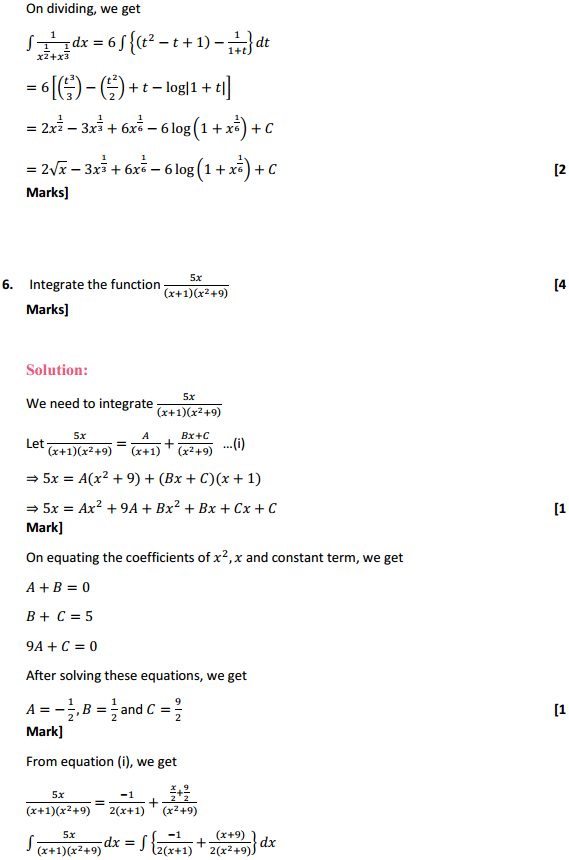 NCERT Solutions for Class 12 Maths Chapter 7 Integrals Miscellaneous Exercise 5