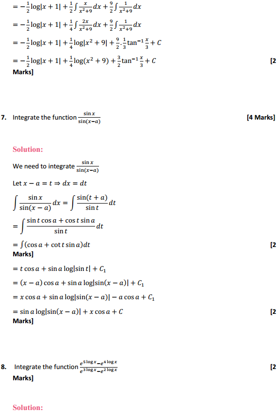 NCERT Solutions for Class 12 Maths Chapter 7 Integrals Miscellaneous Exercise 6