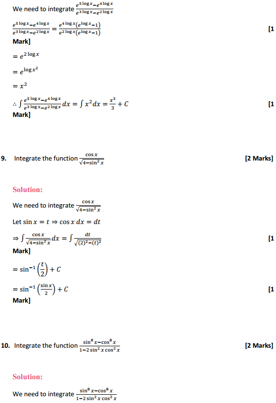 NCERT Solutions for Class 12 Maths Chapter 7 Integrals Miscellaneous Exercise 7
