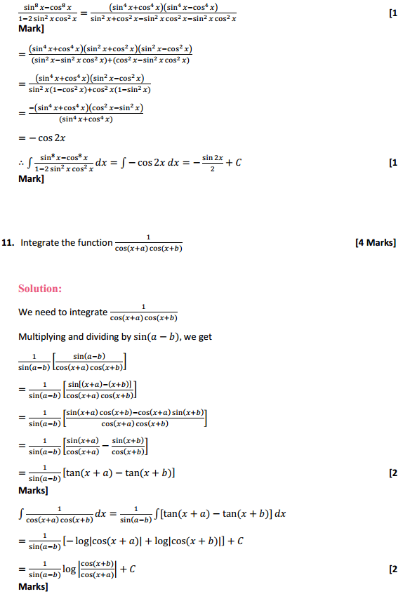 NCERT Solutions for Class 12 Maths Chapter 7 Integrals Miscellaneous Exercise 8