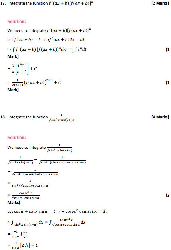 NCERT Solutions for Class 12 Maths Chapter 7 Integrals Miscellaneous Exercise 12