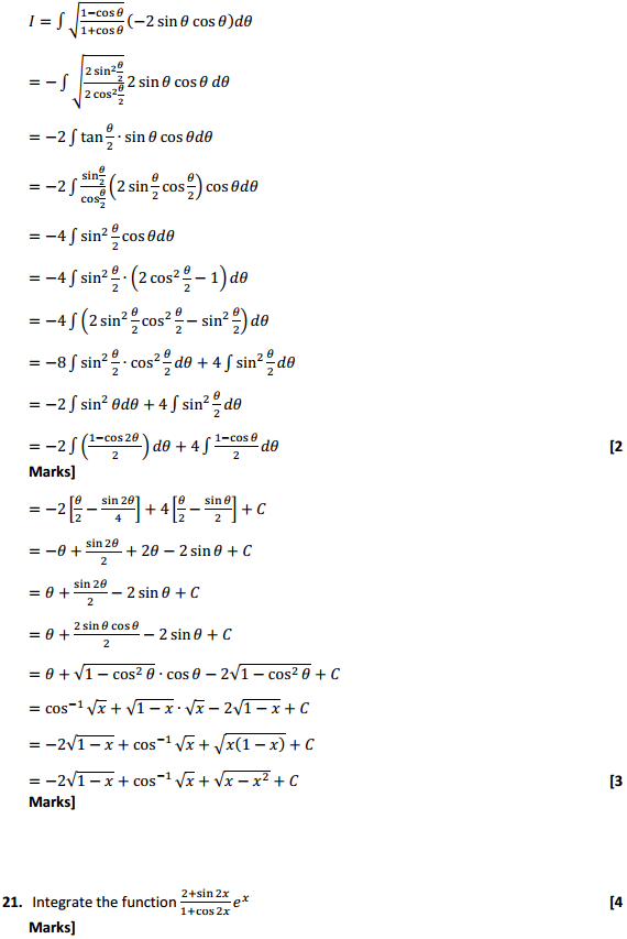NCERT Solutions for Class 12 Maths Chapter 7 Integrals Miscellaneous Exercise 15
