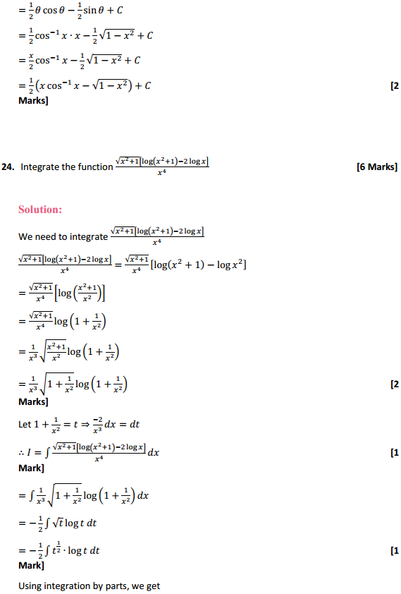 NCERT Solutions for Class 12 Maths Chapter 7 Integrals Miscellaneous Exercise 18