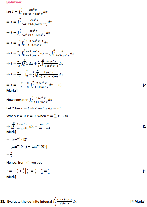 NCERT Solutions for Class 12 Maths Chapter 7 Integrals Miscellaneous Exercise 21
