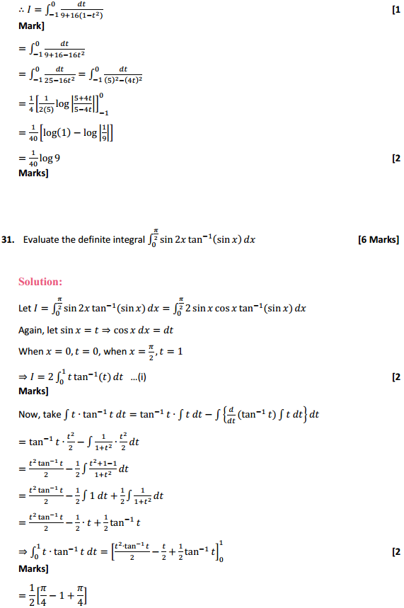 NCERT Solutions for Class 12 Maths Chapter 7 Integrals Miscellaneous Exercise 24