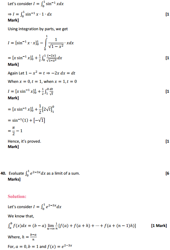NCERT Solutions for Class 12 Maths Chapter 7 Integrals Miscellaneous Exercise 31