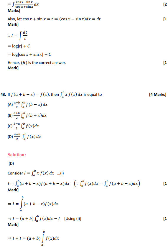 NCERT Solutions for Class 12 Maths Chapter 7 Integrals Miscellaneous Exercise 34