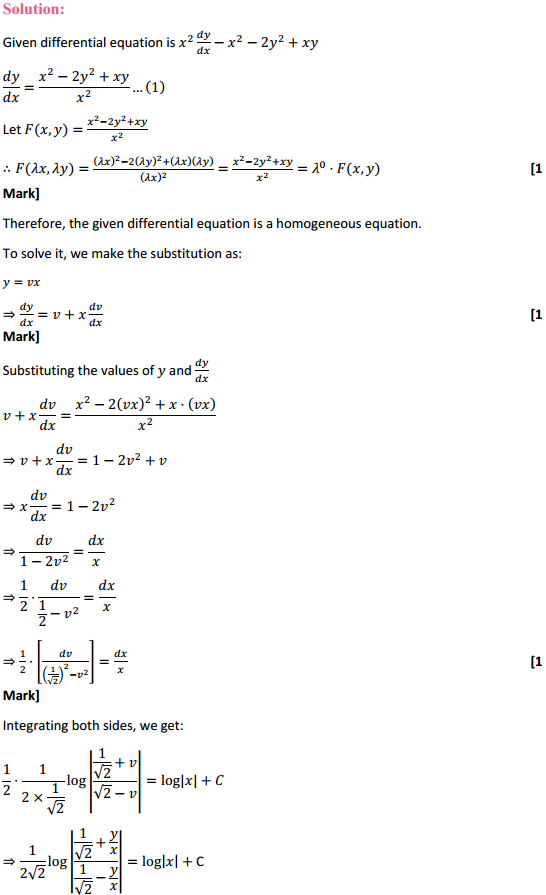 NCERT Solutions for Class 12 Maths Chapter 9 Differential Equations Ex 9.5 9