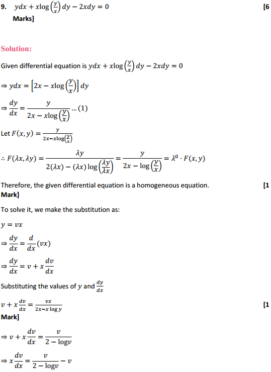 NCERT Solutions for Class 12 Maths Chapter 9 Differential Equations Ex 9.5 18