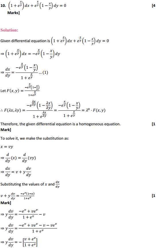 NCERT Solutions for Class 12 Maths Chapter 9 Differential Equations Ex 9.5 21
