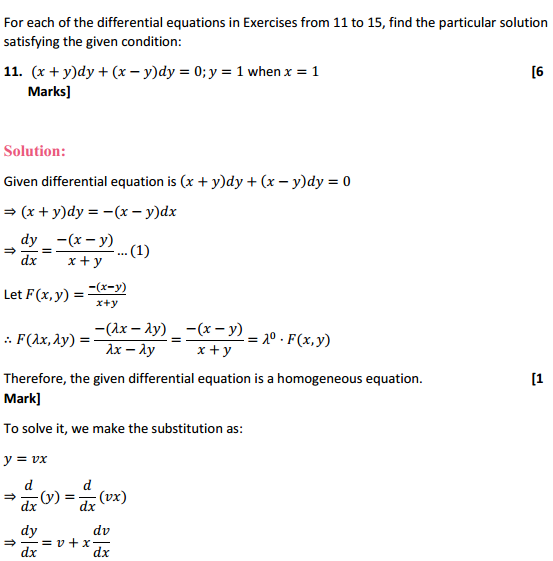 NCERT Solutions for Class 12 Maths Chapter 9 Differential Equations Ex 9.5 23