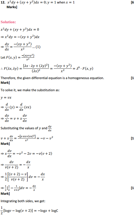 NCERT Solutions for Class 12 Maths Chapter 9 Differential Equations Ex 9.5 25