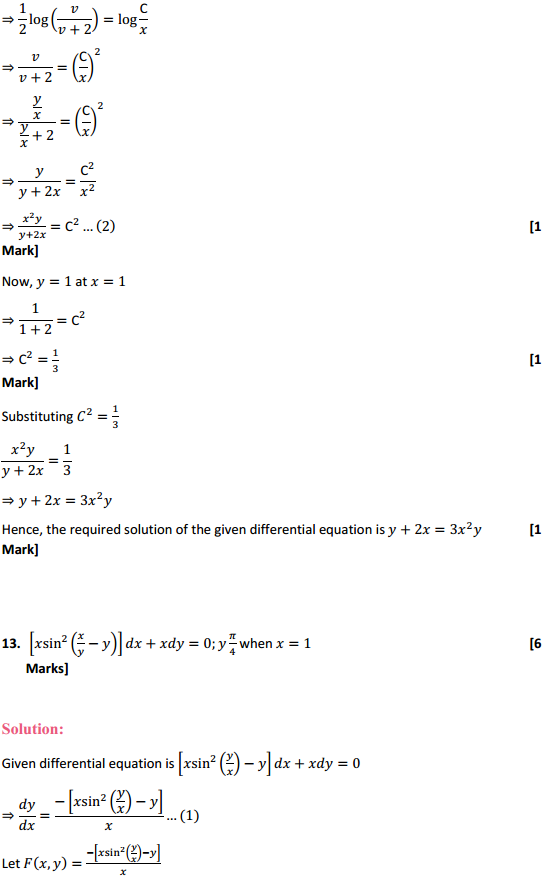 NCERT Solutions for Class 12 Maths Chapter 9 Differential Equations Ex 9.5 26
