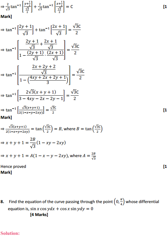 NCERT Solutions for Class 12 Maths Chapter 9 Differential Equations Miscellaneous Exercise 16
