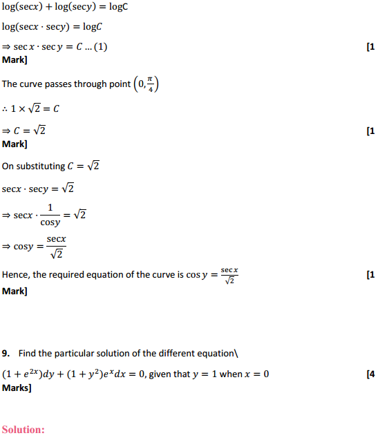 NCERT Solutions for Class 12 Maths Chapter 9 Differential Equations Miscellaneous Exercise 18