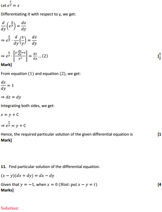 NCERT Solutions for Class 12 Maths Chapter 9 Differential Equations Miscellaneous Exercise 22